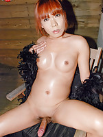 Newhalf showd-ancer from the seaside town of Tottori that escorts on the side.